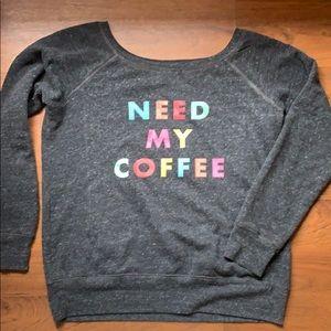 Coffee sweatshirt, size M/L